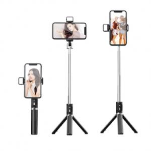 P60D Extendable Tripod 360 Degree Rotation Bluetooth Mobile Phone Selfie Stick