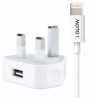 iGlow High-Quality 1A USB Port Mains Charger & Lightning Cable