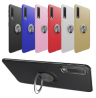Ring TPU Protective Phone Case With Ring Holder For Samsung Galaxy A7 2018 SM-A750