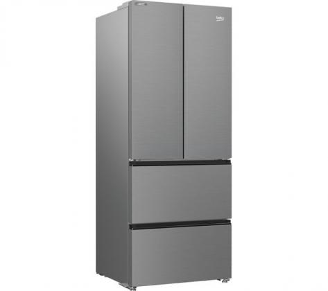 BEKO HarvestFresh GNE490IR3VPS Fridge Freezer - Stainless Steel Effect