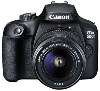 Canon EOS 4000D DSLR Camera and EF-S 18-55 mm f/3.5-5.6 III Lens - Black
