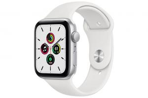 Apple Watch SE GPS | 44mm | Silver Aluminum with White Sports Band