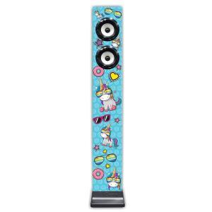 iDance Unicorn Tall Speaker with built-in Radio