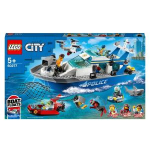 LEGO 60277 City Police Patrol Floating Boat and Drone Toy