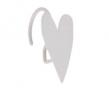 Argos Home Heart Shower Curtain Hooks - White