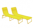 Argos Home Set of 2 Sun Loungers - Yellow