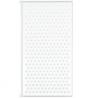 Croydex Full Framed Single Bath Screen - White & Glass