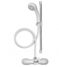 Croydex Push Fit Shower Mixer Set - White