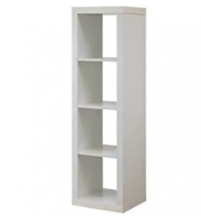 Better Homes and Garden 4-Cube Organizer | Horizontal or Vertical Display, (4-Cube, White) (White)