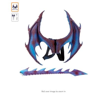 MMOO Pu Foam Dragon Wings Parties Cosplay Pretend Play Dress Up Wings