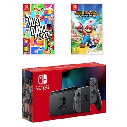 Nintendo Switch Grey & Two Games Bundle
