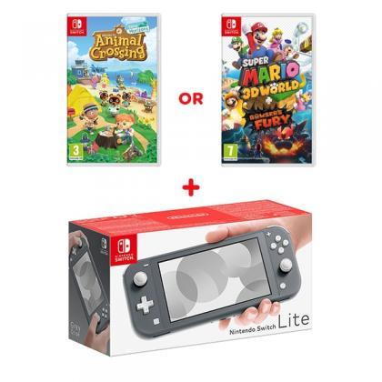 Nintendo Switch Lite Grey & Select Game