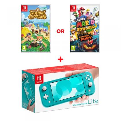 Nintendo Switch Lite Turquoise & Select Game