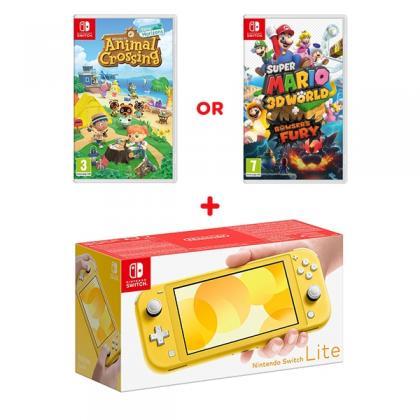 Nintendo Switch Lite Yellow & Select Game