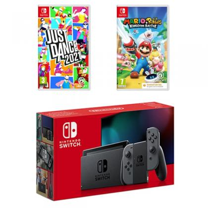 Nintendo Switch Neon & Two Games Bundle