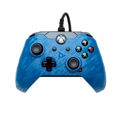 PDP Gaming Blue Camo Wired Controller for Xbox One & Series X