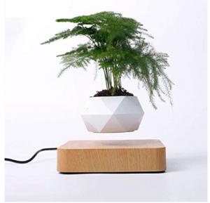 Levitating Air Bonsai Pot, Rotation Flower Pot Planters, Magnetic Levitation Suspension Floating Pot