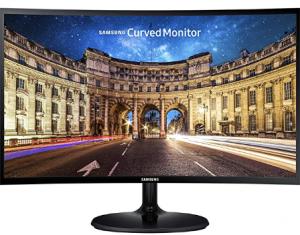 Samsung CF390 Series 27 inch FHD 1920x1080 Curved Desktop Monitor for Business, HDMI, VGA, VESA moun
