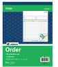 Adams Order Book, 2-Part, Carbonless, White/Canary, 8-3/8 x 10-11/16 Inches, 50 Sets per Book (DC810