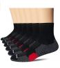 AKOENY Men's Performance Athletic Quarter Socks for Sport Running Training (6 Pack)