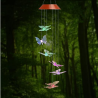 Amazing Wind Chime,Color Changing Solar Mobile Wind Chimes Lights Hanging Wind Bell Light Night Hang