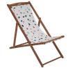 Argos Home Wooden Deck Chair - Terrazzo