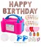 Balloon Pump,132 PCS Electric Balloon Blower 110V 600W Portable Dual Nozzles Electric Balloon Air Pu