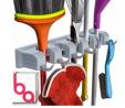 Berry Ave Broom Holder Wall Mount and Garden Tool Organizer, Closet Storage, Kitchen Rack, Home Orga