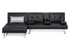 Best Choice Products Faux Leather Upholstery 3-Piece Modular Modern Living Room Sofa Sectional Furni