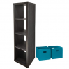 Better Homes and Gardens Home Office Furniture Cube Organizer Storage Bookcase Bookshelf and Durable