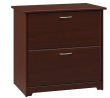 Bush Furniture Cabot 2 Drawer Lateral File Cabinet, Harvest Cherry