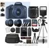 Canon EOS 2000D / Rebel T7 Digital SLR Camera Body w/Canon EF-S 18-55mm f/3.5-5.6 Lens 3 Lens DSLR K