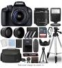 Canon EOS 4000D / Rebel T100 Digital SLR Camera Body w/Canon EF-S 18-55mm f/3.5-5.6 Lens 3 Lens DSLR
