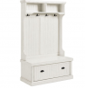 Crosley Furniture Seaside Hall Tree - Distressed White