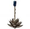 """Desert Steel Blue Agave Garden Torch - (Small - 20""""W x 15""""H x 30""""H) - Outdoor Metal Yard Art &"""