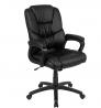 Flash Furniture Flash Fundamentals Big & Tall 400 lb. Rated Black LeatherSoft Swivel Office Chair wi