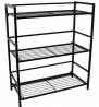 Flipshelf-Folding Metal Bookcase-Small Space Solution-No Assembly-Home, Kitchen, Bathroom and Office
