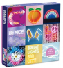 """Galison Electric Confetti Puzzle, 300 Pieces, 21.25"""" x 16.14"""" – Features 12 Images of Bright,"""