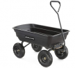 Gorilla Carts GOR4PS Poly Garden Dump Cart with Steel Frame and 10-in. Pneumatic Tires, 600-Pound Ca
