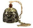 HiMo Vintage Dragon Fengshui Bell Toy Good Luck Bless for Home Garden Hanging Windchime Blessing Dec