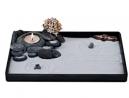 ICNBUYS Handmade Zen Garden Pebble Tealight Candle Holder Set Quiet Spring with Free Zen Garden Tool