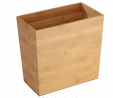 iDesign Formbu Bamboo Rectangular Waste Basket - 10.5