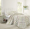 Laura Ashley Home Ruffle Garden Collection Quilt-100% Cotton, Ultra Soft, All Season Bedding, Revers