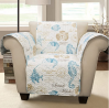 Lush Decor Harbor Life Arm Chair Furniture Protector, Blue/Taupe