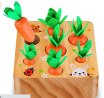SKYFIELD Carrot Harvest Game Wooden Toy for Boys and Girls 1 2 3 Years Old, Shape Sorting Matching P