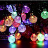 Solar String Lights Garden 50 LED 24Ft Outdoor String Lights Multi-Colored Waterproof Crystal Ball F