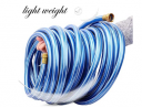 Solution4Patio Homes Garden 3/4 in. x 3 ft. Short Garden Hose Blue Lead-Hose Male/Female High Water