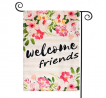 TGOOD Flower Welcome Friends Spring Garden Flag Decorations Outdoor Banner,12.5x18inch Double Sided