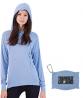 THUNDERGROUND Lightweight Hoodie for Women | Packable Running Long Sleeve Shirt