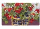 Toland Home Garden Geranium Basket 18 x 30 Inch Decorative Floor Mat Floral Colorful Red Flower Door